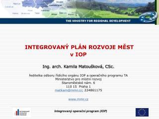 IPRM  Integrovaný plán rozvoje měst