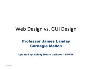 Web Design vs. GUI Design