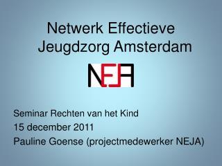 Netwerk Effectieve Jeugdzorg Amsterdam Seminar Rechten van het Kind 15 december 2011