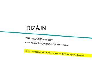 DIZÁJN