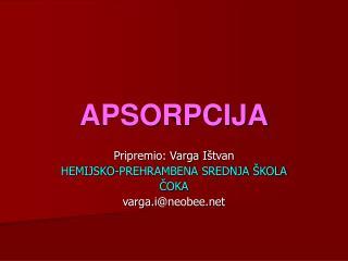 APSORPCIJA