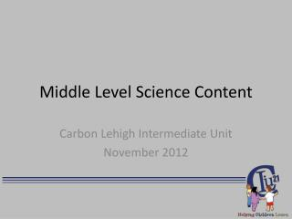 Middle Level Science Content