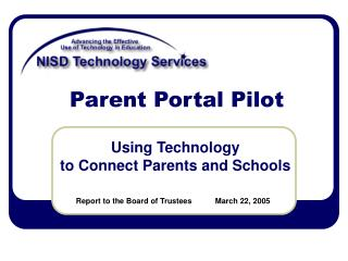 Parent Portal Pilot