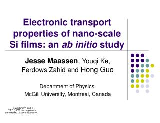 Electronic transport properties of nano-scale Si films: an  ab initio  study