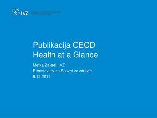 Publikacija OECD Health at a Glance