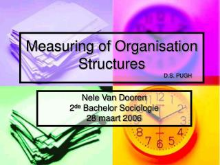 Measuring of Organisation Structures  						D.S. PUGH