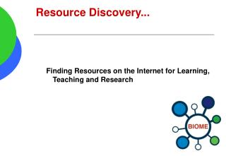 Resource Discovery...