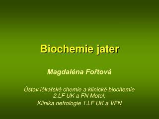Biochemie jater