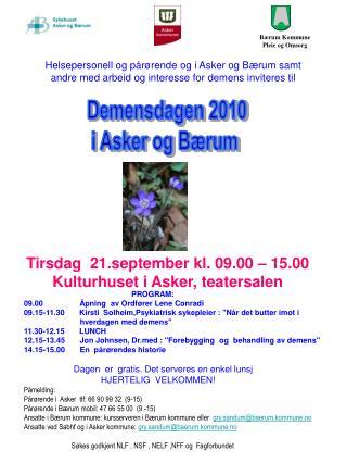 Bærum Kommune  Pleie og Omsorg