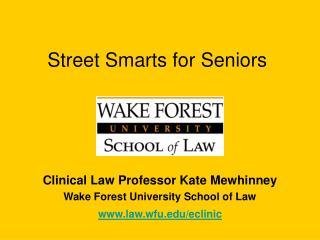 Street Smarts for Seniors