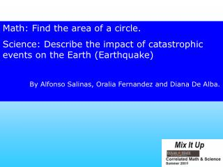 Math: Find the area of a circle.