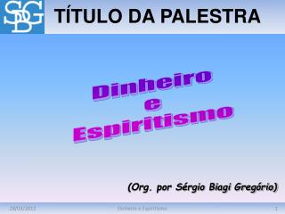 TÍTULO DA PALESTRA