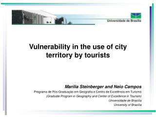 Vulnerability in the use of city  territory by tourists