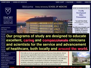 """Mission of the Emory University Medical School"""