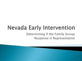 Nevada Early Intervention