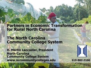 Partners in Economic Transformation  	for Rural North Carolina