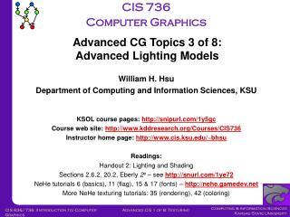 CIS 736 Computer Graphics