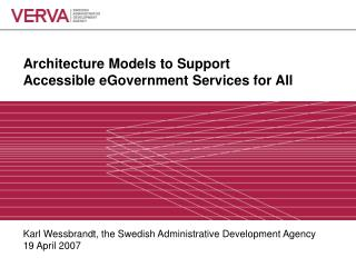 Architecture Models to Support  Accessible eGovernment Services for All