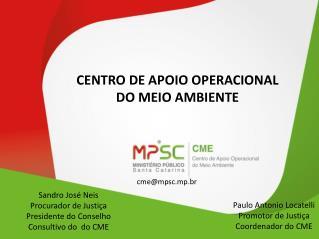 CENTRO DE APOIO OPERACIONAL  DO MEIO AMBIENTE