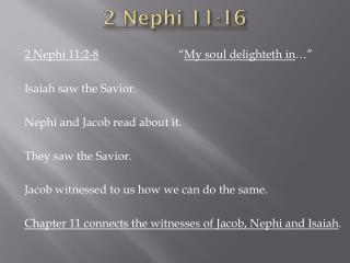 2 Nephi 11-16
