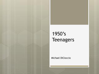 1950's Teenagers
