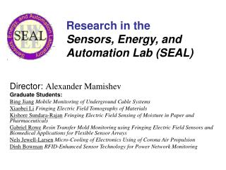 Research in the  Sensors, Energy, and Automation Lab (SEAL)