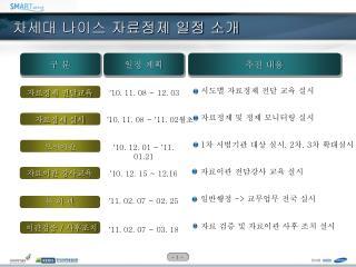 차세대 나이스 자료정제  일정 소개