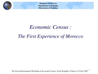 Economic Census :  The First Experience of Morocco