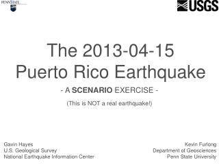 The 2013-04-15 Puerto Rico Earthquake