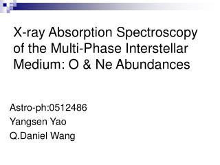 X-ray Absorption Spectroscopy of the Multi-Phase Interstellar Medium: O & Ne Abundances