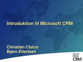 Introduktion til Microsoft CRM