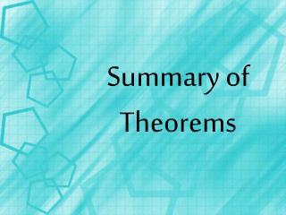 Summary of Theorems