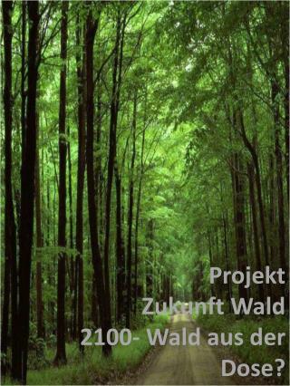 Projekt Zukunft Wald 2100- Wald aus der Dose?