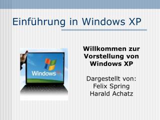 Einführung in Windows XP