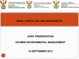 NEMA / MPRDA AND NWA AMENDMENTS