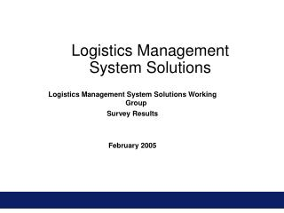 Logistics Management System Solutions