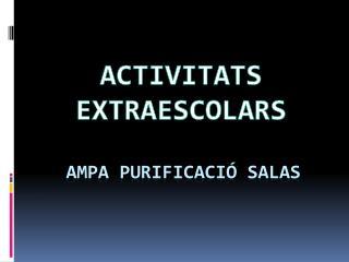 AMPA PURIFICACIÓ SALAS