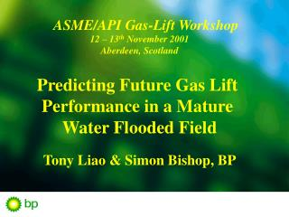 ASME/API  Gas-Lift Workshop