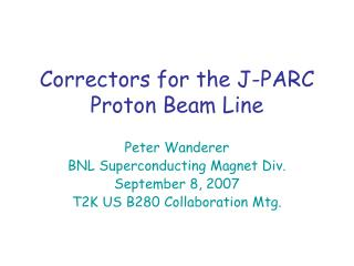 Correctors for the J-PARC Proton Beam Line