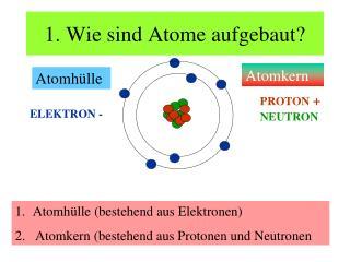 1. Wie sind Atome aufgebaut?