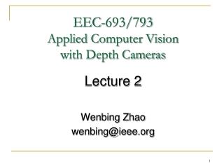 Machine Vision lecture 2