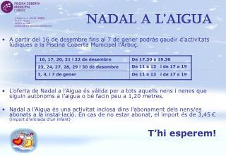 NADAL A  L'AIGUA