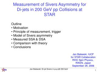 Measurement of Sivers Asymmetry for Di-jets in 200 GeV pp Collisions at STAR