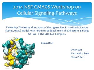 2014 NSF-CMACS Workshop on Cellular Signaling Pathways