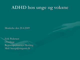 ADHD hos unge og voksne