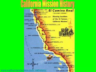 California Mission History