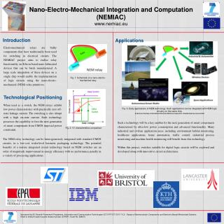 Nano-Electro-Mechanical Integration and Computation (NEMIAC) nemiac.eu