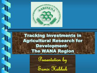 Tracking Investments in Agricultural Research for Development-  The WANA Region