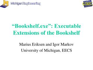 """Bookshelf.exe"": Executable Extensions of the Bookshelf"
