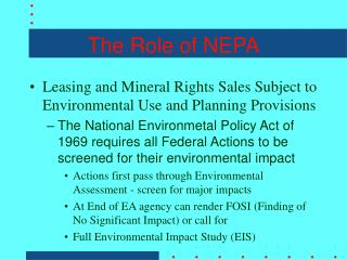 The Role of NEPA